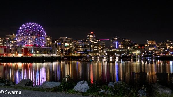 Science World at night - Vancouver BC by Swarnadip
