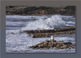 Stormy Cyprus Sea