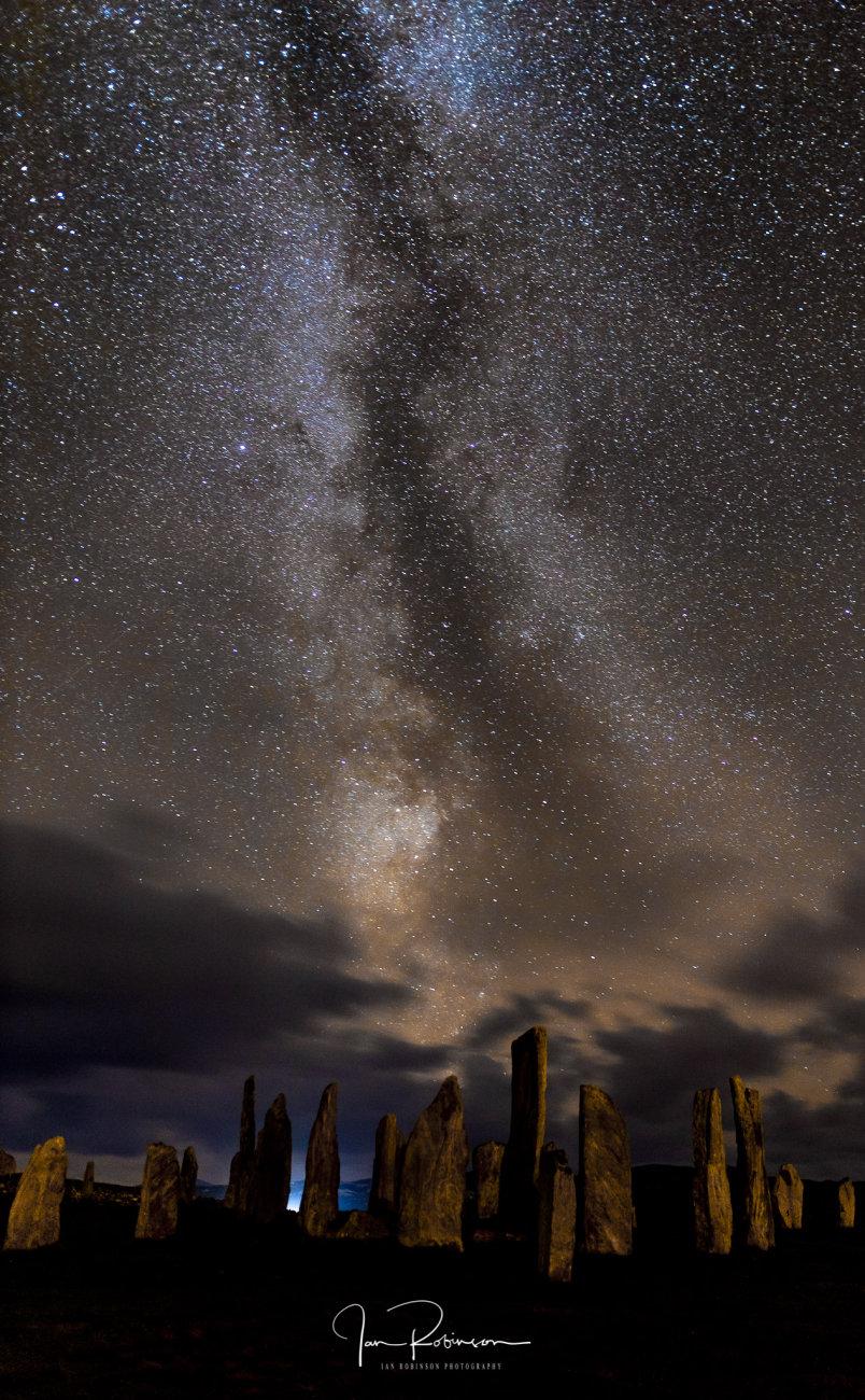 Milky way over the Callanish stones.
