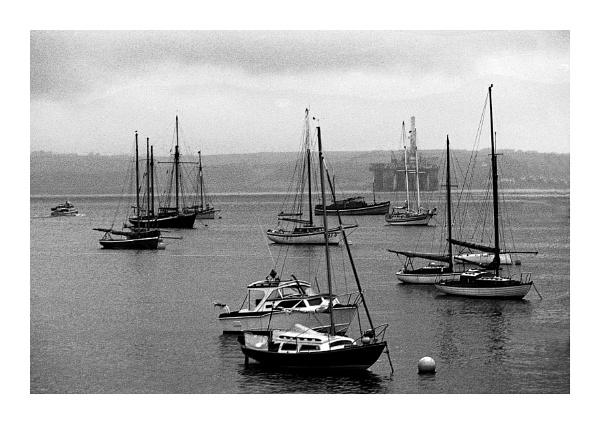 Boats at Falmouth by Lontano