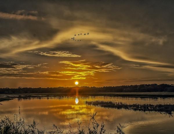 Sundown at Myakka Lake by jbsaladino
