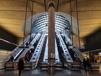 Canary wharf underground station London