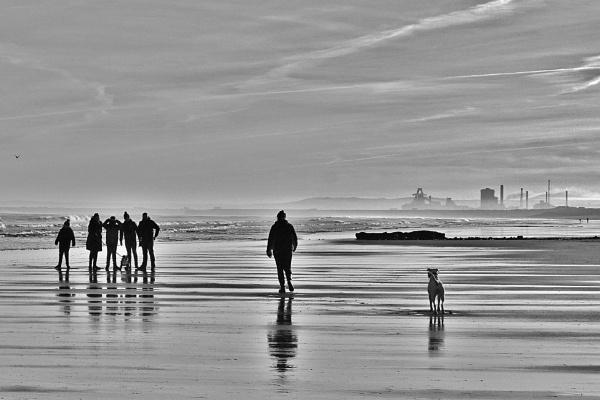 A winter beach walk. by georgiepoolie