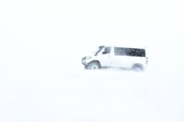 A snowy day in Reykjavik