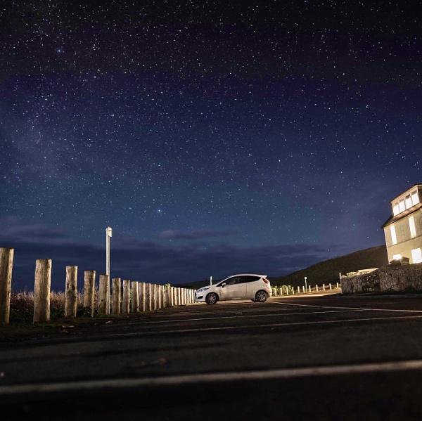 Night sky Cornwall by curt