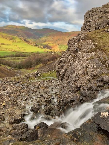 Waterfall above Rock Farm, Eglwyseg, Llangollen by Brenty