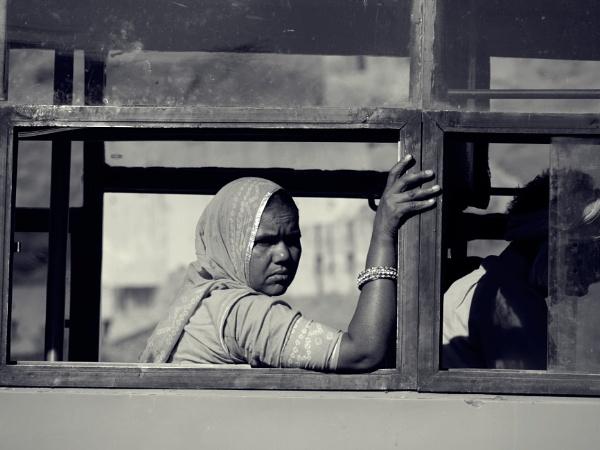 Woman on bus, Rajasthan .. by chrisdunham
