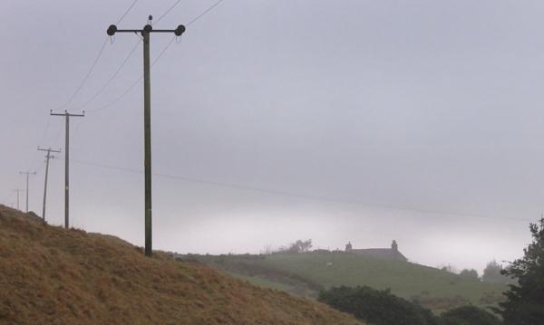 Misty morning near Rye Top Farm. by michaelfox