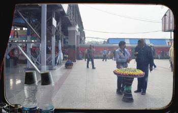 Station....through the train window.