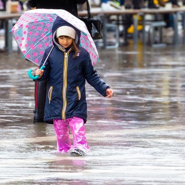 Playing in the rain....
