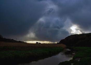 Passing rain clouds