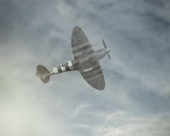 Spitfire coming out of a dogfight