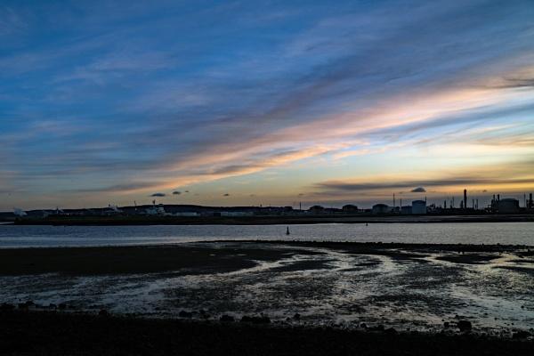 Tees Estuary Sunset by terra