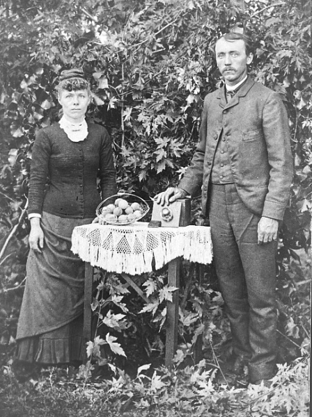 The photographer and his wife - c.1895 by HobbitDave