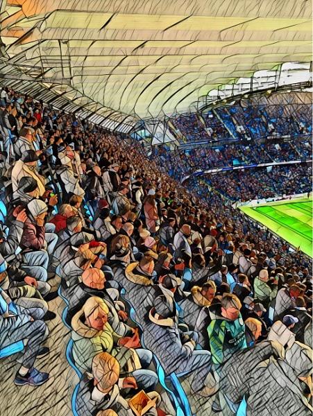 Blue Crowd by RLF