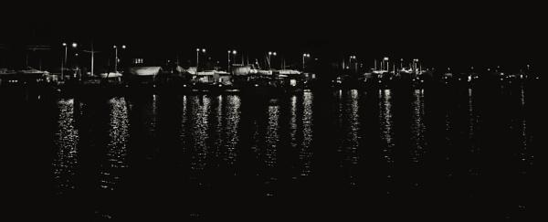marina at night by mogobiker