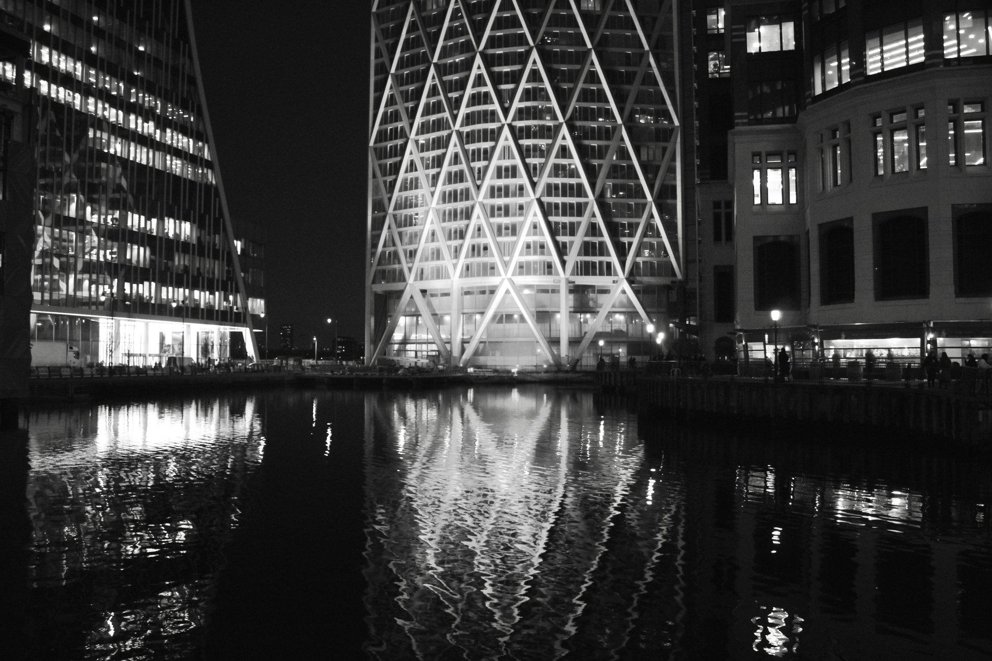 Reflecting in black n white