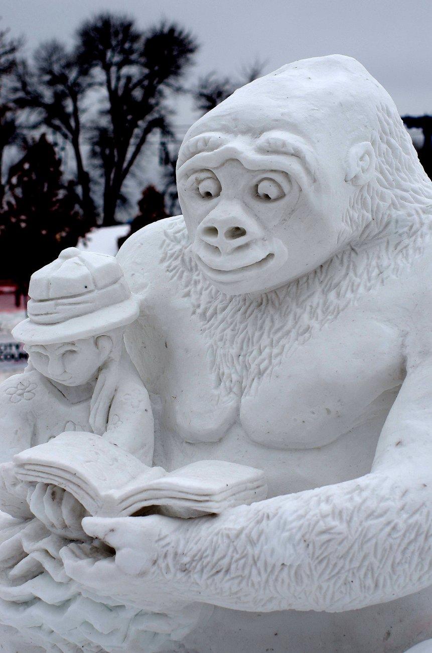 Snow carvings at St Paul Winter Carnival