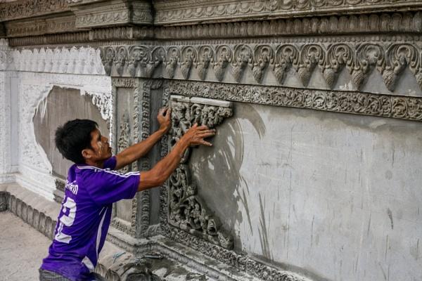 Restoration Work at Buddhist Temple by bobbyl