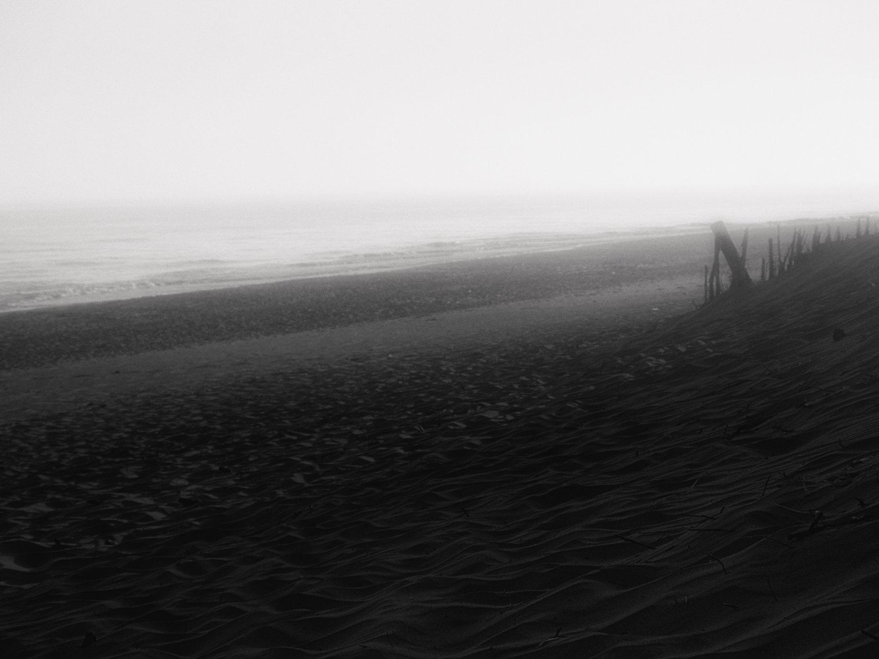Dark beach