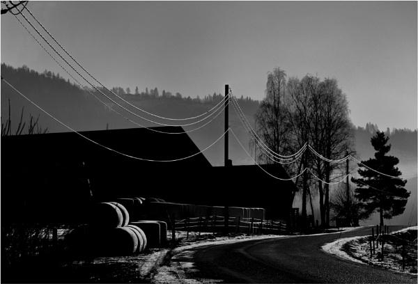 Local road in winter II by saltireblue
