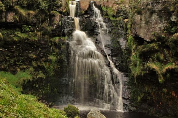 Hebden moor waterfall by cookyphil