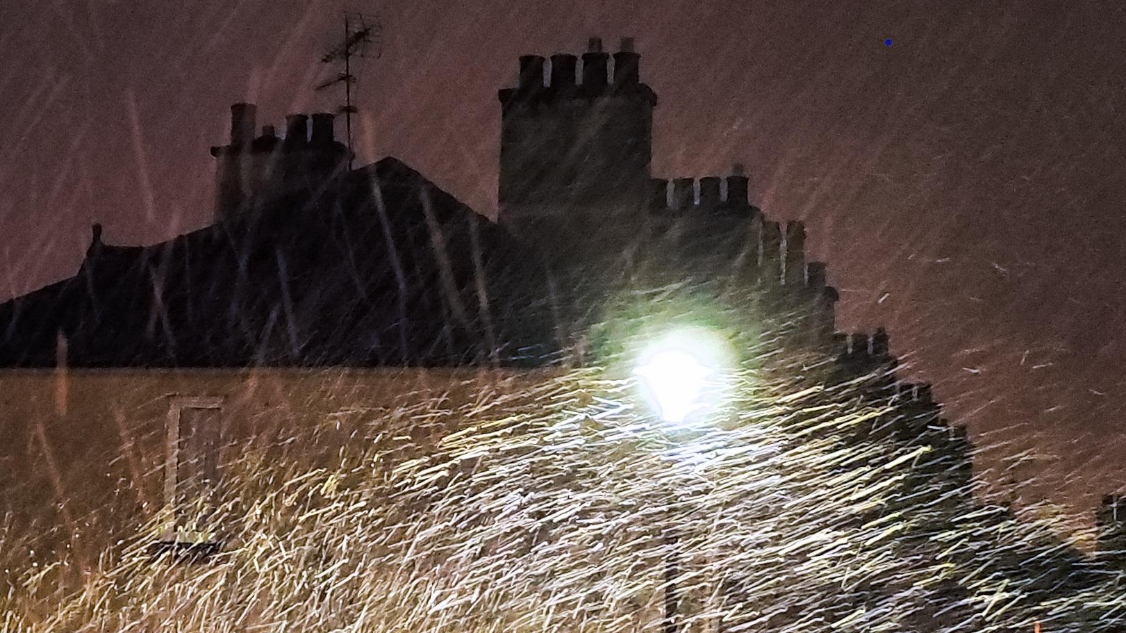 Snow And Street Light