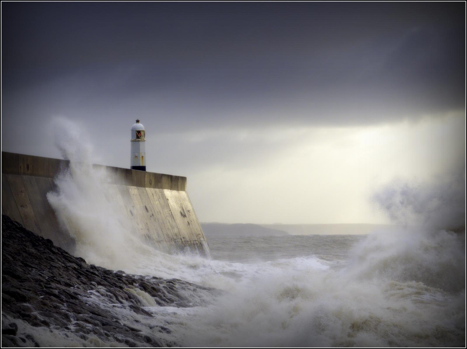 Storm Dennis. Porthcawl