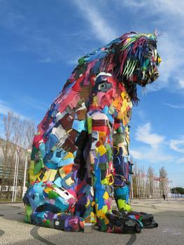 Art with rubbish (Bordalo)...
