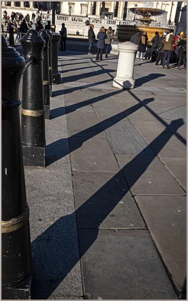 Bollards and Shadows by AlfieK