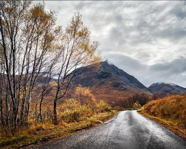 Autumnal Road in Glencoe by swilliams71