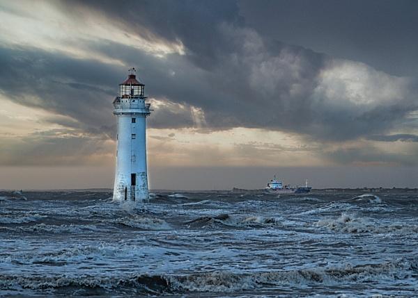 Storm Dennis off New Brighton (Wirral) by PhilAJ