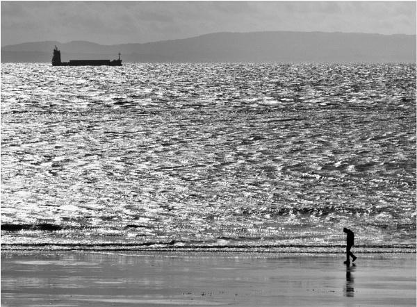 A stroll along the beach. by franken