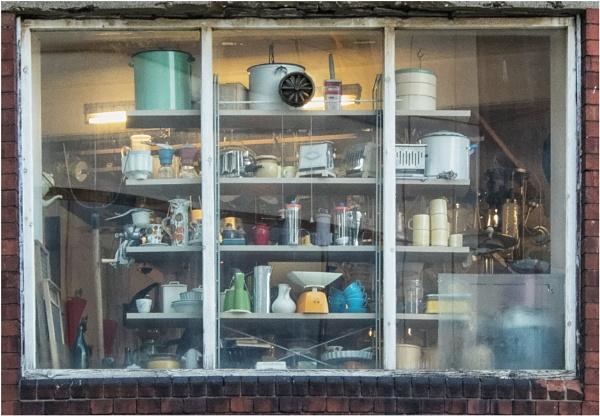 A couple of junk shop windows. by franken