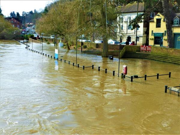 RIVER IN FLOOD by EMJAYCEE