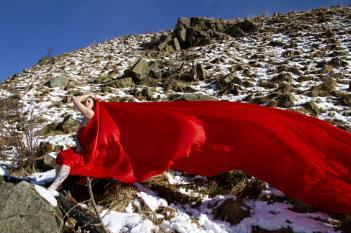 Winter Windy Woman