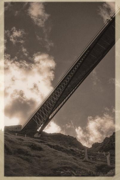 Tintagel Castle Bridge by Alan_Baseley
