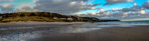 Three Cliffs Bay Panorama by woodini254