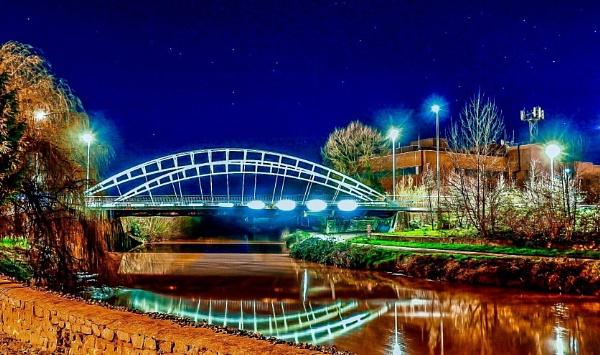 Bridge over the river Tone. by Lencollard