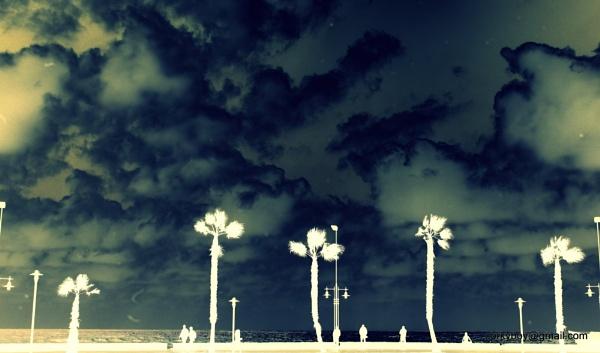 Malaga bleached sky by rustyshackleford