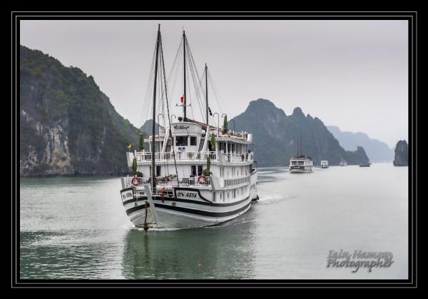 Halong Bay junks by IainHamer