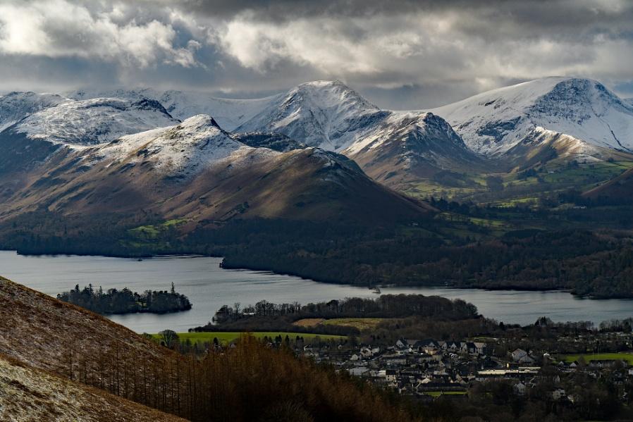 Snowy Lake District.