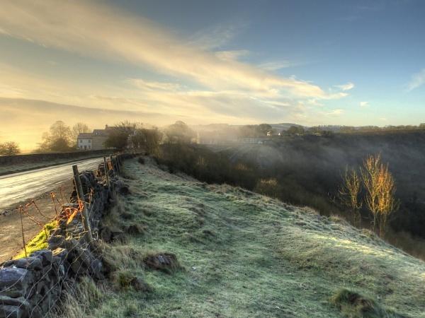 Misty Monsal Morning by ianmoorcroft