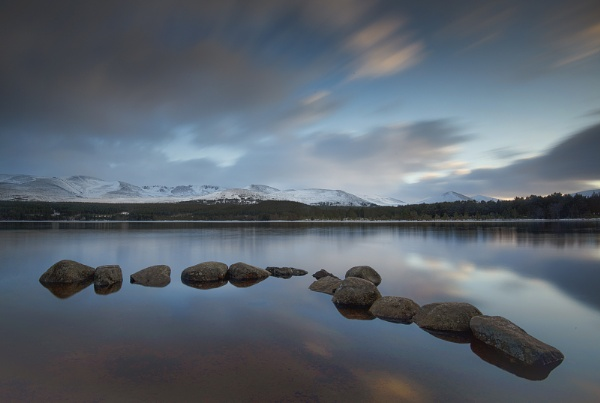 Loch Morlich & The Cairngorm Mountains by pdsdigital