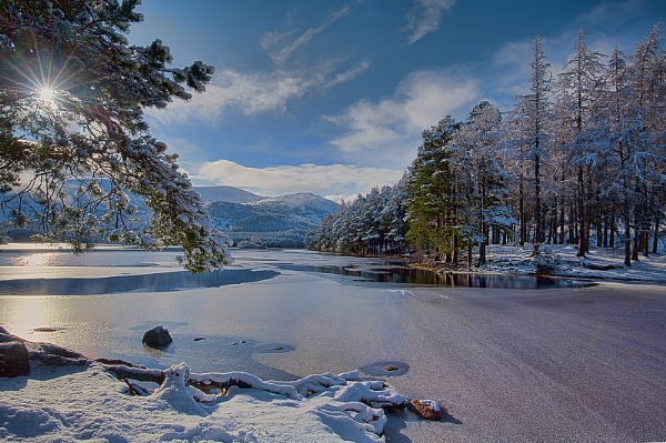 Winter at Loch an Eilein by pdsdigital
