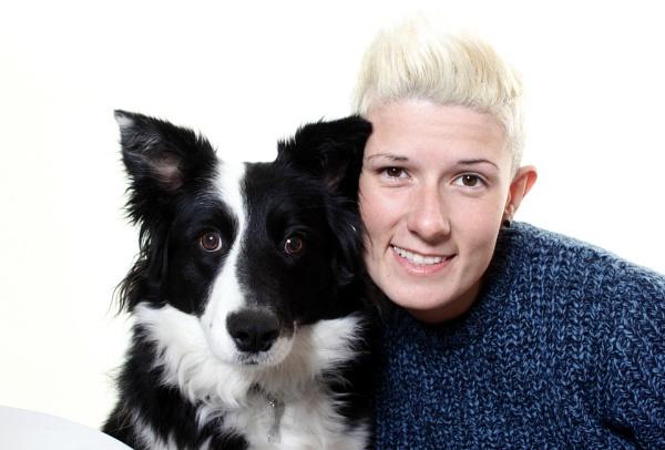 One girl and her dog by LozzaSherri