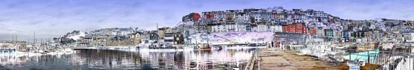 Brixham Harbour Panorama (Full Version) by starckimages