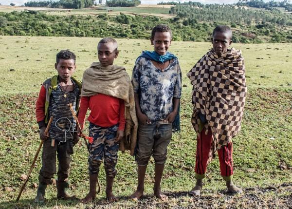 School kids - N. Ethiopia by barryyoungnz