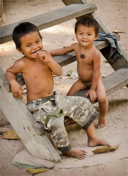 Village Children by PhilScot