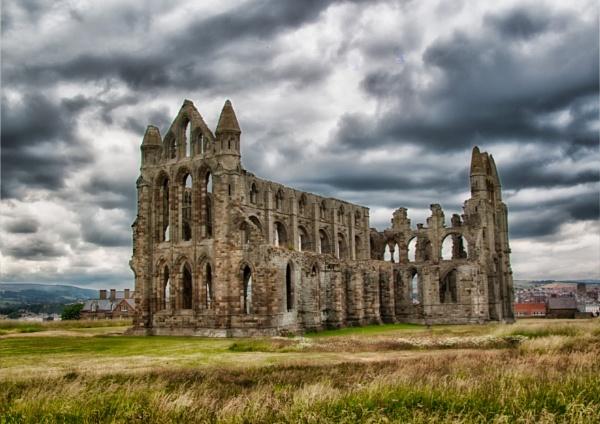 moody over whitby abbey by stevegilman